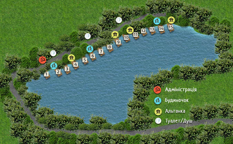 Схема озера